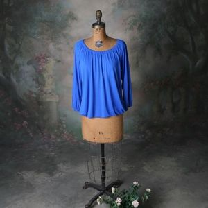 Ann Taylor Tops - Ann Taylor Long Sleeve Multi Way Top Royal Blue